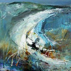 Seascapes, seascape painting, seascape art by Patricia Sadler Pastel Landscape, Landscape Artwork, Abstract Landscape Painting, Abstract Watercolor, Artist Painting, Contemporary Landscape, Abstract Art, Watercolour, Seascape Paintings