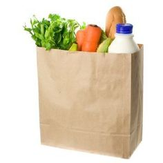 grocery bag full of groceries