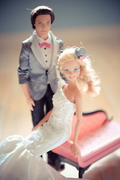 Real Wedding Album: Barbie & Ken!! (No, Really! It's Phenomenal!): Save the Date: Weddings: glamour.com