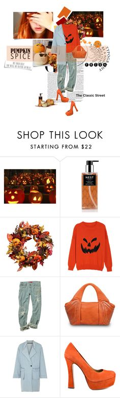 """""""Crazy in love"""" by bbiillggeess ❤ liked on Polyvore featuring Nest Fragrances, Improvements, GRETCHEN, Raquel Allegra, Chinese Laundry, UGG, orange and pumpkinspice"""