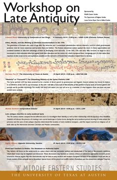 Workshop on Late Antiquity