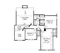 Floor Plans AFLFPW07706 - 2 Story Craftsman Home with 4 Bedrooms, 3 Bathrooms and 2,338 total Square Feet