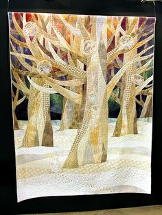 Trees in neutral tones. 2009 Tokyo International Quilt Festival. Photo by Robots-Dreams, via Flickr.