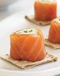 Smoked Salmon Involtini with Guacamole Recipe from Food & Wine