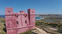 Red Tower Malta HD Drone 2015 Malta Island, Maltese, Monument Valley, Tower, Magic, Nature, Red, Travel, Europe