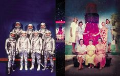 The Mercury 7 astronauts and their wives
