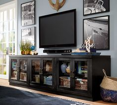 long black tv console