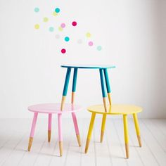 With a bright, powder coated top and stylish timber legs your little one will love sitting around their very own Poppy table from the Adairs Kids range. Coordinate with the Fiesta chairs from Adairs Kids, available in matching colours and just the right size. Fiesta chairs currently available in store only.