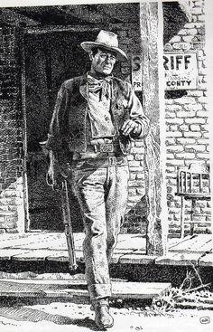 John Wayne by Moebius