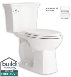 View the American Standard 207AA.104 Estate Elongated Two-Piece Toilet with VorMax Flushing, Right Height Bowl, EverClean Surface, and CleanCurve Rim - Less Seat at Build.com.