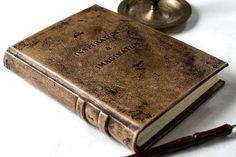 https://www.etsy.com/es/listing/247915619/diario-personalizado-en-piel-libro-de #journaling #blankbook #bookart