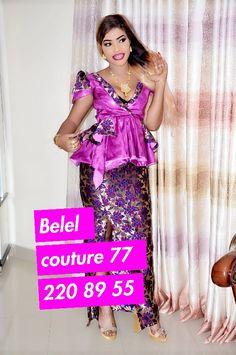 ( 29 Photos ) Spécial Mode Tabaski 2018: Top 05 des modèles les plus classes… avec Belel Couture – Dakarbuzz African Fashion Skirts, African Wear Dresses, African Print Fashion, Africa Fashion, African Attire, African Outfits, African Lace Styles, Dress Patterns, Fashion Design