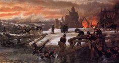 The Crossing of the River Berizina - Sir Lawrence Alma-Tadema