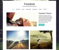 Freedom - Perfect for photo-centric posts. Love the layout! 15+ Best Free Personal Blog WordPress Themes 2016