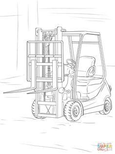 Cat Kraan Kleurplaten Labeled Parts Of A Forklift Education Truck Parts