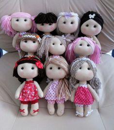Dolls in a piece – Artofit Felt Crafts Dolls, Felt Doll Patterns, Homemade Dolls, Realistic Dolls, Doll Tutorial, Sewing Dolls, Felt Toys, Soft Dolls, Diy Doll