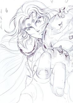 Saint Seiya - Mu dell'Ariete. Una prima bozza realizzata da Samantha Scuri. Promette bene, come sempre.