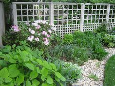 White Privacy Fence Landscaping by LaMond Landscaping, via Flickr
