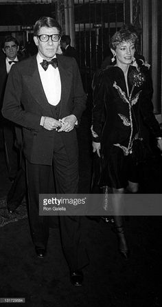 Yves Saint Laurent and Loulou de la Falaise attend the party for Opium Perfume Launch on September 20, 1978 at Studio 54 in New York City.