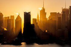 Photograph Manhattan Sunrise Photo by Erik Dresser on Manhattan Skyline, New York Skyline, Dream Vacations, Vacation Spots, Wonderful Places, Beautiful Places, Beautiful World, You're Beautiful, City That Never Sleeps