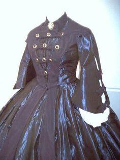 Dinner Black Mantle Gown