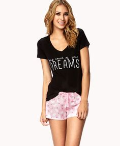 Dreamy Counting Sheep PJ Set   FOREVER21 - 2017307199