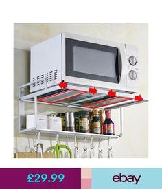 Meco Pot Racks #ebay #Home & Garden Microwave Wall Mount, Microwave In Kitchen, Microwave Oven, Kitchen Appliances, Aluminium Kitchen, Pot Racks, Wall Mount Bracket, Storage Rack, Garden