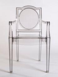Krzesło do jadalni przezroczyste Podstawa z drewnianych n³g