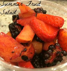 Summer Fruit Salad. I love fruit salad and this summer fruit salad is so easy and so yummy. You can change out the fruit to whatever you want but these are some of the favorites in my family.