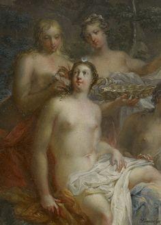 (JOHANN GEORG PLATZER, 1704-1761, AUSTRIA) .The Bath of Diana