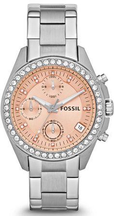 Fossil Watches, Women's Decker Chronograph Stainless Steel Watch #ES3379