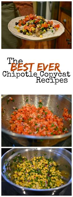 "Healthy Motivation : Illustration Description The BEST Chipotle copycat recipes: carnitas, corn salsa, mild salsa, rice ""Life begins at the end of your comfort zone"" ! Mexican Food Recipes, New Recipes, Cooking Recipes, Favorite Recipes, Healthy Recipes, Recipies, I Love Food, A Food, Good Food"