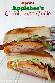 Copycat Applebee's Clubhouse Grille Sandwich Recipe. A great sandwich loaded up with bacon and of course BBQ Sauce. Great easy dinner idea.
