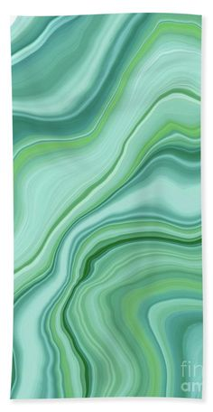 Liquid Emerald Green Agate Dream #1 #gem #decor #art  Beach Towel for Sale by Anitas and Bellas Art
