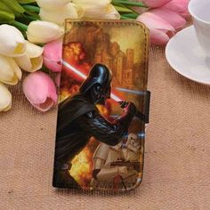 Darth Vader CUSTOM PERSONALIZED WALLET FOR IPHONE 4 4S 5 5S 5C 6 6 PLUS 7 AND SAMSUNG GALAXY S3 S4 S5 S6 S7 CASE - GOGOLFNW.COM