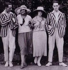 HOLY BLAZES!    The roaring 20s striped blazer: Essential equipment for the gentleman's sporting weekend.