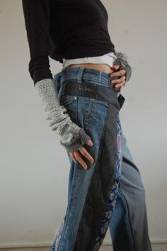 Wonderful jean refashion by this French designer. pantalon cheresloques