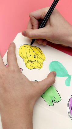 Pegue o seu Marca Texto Pastel e o Marcador Fineliner e entra com a gente nesse #artchallenge Pastel, Blog, Challenges, Stationery Shop, Sharpies, Pictures, Fotografia, Cake, Blogging
