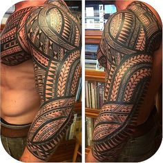 difference between samoan and polynesian tattoos Tribal Tattoos For Men, Tribal Sleeve Tattoos, Leg Tattoos, Body Art Tattoos, Tattoos For Guys, Buddha Tattoos, Geometric Tattoos, Hawaiianisches Tattoo, Tattoo Style