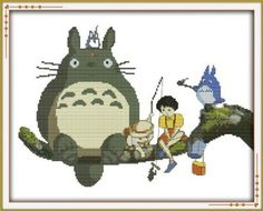 Happy Forever Cross Stitch Cartoon my neighbor totoro 1 * For more information, visit image link. This Amazon pins is an affiliate link to Amazon.