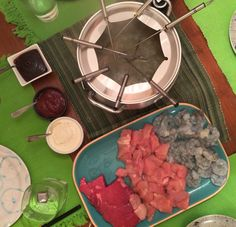 Broth Meat Fondue - turned out delicious!