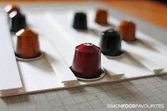 Simon Food Favourites: How to make a DIY Nespresso Pod Wall Rack for nothing (9 Mar 2012)
