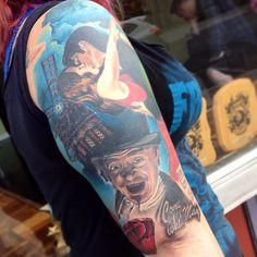 Moulin rouge half sleeve finished up. More pics to come. #moulinrouge #colortattoo #tattoo