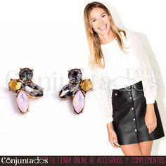 Pendientes Anie ★ 9'95 € ★ Cómpralos en https://www.conjuntados.com/es/pendientes/pendientes-cortos/pendientes-anie-de-cristales.html ★ #pendientes #earrings #conjuntados #conjuntada #joyitas #lowcost #jewelry #bisutería #bijoux #accesorios #complementos #moda #eventos #bodas #fashion #fashionadicct #fashionblogger #blogger #picoftheday #outfit #estilo #style #streetstyle #spain #GustosParaTodas #ParaTodosLosGustos