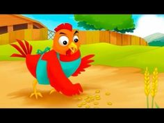 The Little Red Hen | Cartoon for kids | Fairy Tale | Story for Children ... Fairy Tales Unit, Fairy Tales For Kids, Fairy Tale Activities, Fairy Tale Theme, Story Retell, Traditional Tales, Little Red Hen, Preschool Books, Farm Theme