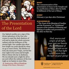 What is the feast of the Presentation of the Lord? #feastday #candlemas…