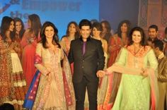 'Save And Empower The Girl Child' fashion show, clothes provided by Manish Malhotra and Sushmita Sen as the showstopper