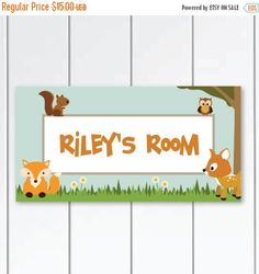 Wallies WOODLAND TEA PARTY wall stickers over 30 peel /& stick decals FOX