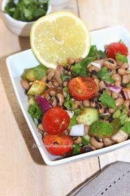 Jagruti's Cooking Odyssey: Black Eyed Peas Salad - Safed Chora Salad - 10th November, Potluck Party Cyber Style