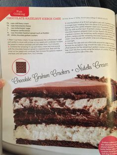 Cooking Chocolate, Chocolate Hazelnut, No Bake Desserts, Just Desserts, Vanilla Whipped Cream, Mascarpone Cheese, Springform Pan, Icebox Cake, Confectioners Sugar